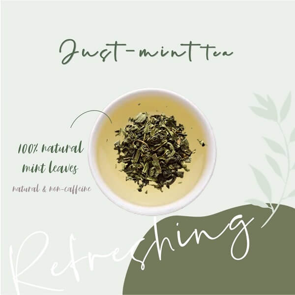 tea of the month flower tea peppermint mint tea fresh natural